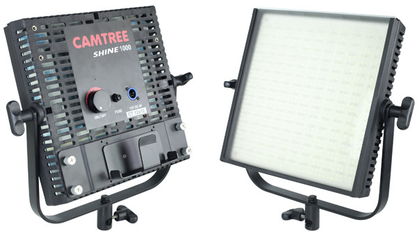 Detalle panel de led 1000W vista frontal y trasera