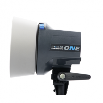 Vista lateral flash de estudio Elinchrom D-Lite RX One 100w
