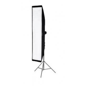 Stripbox vertical 40x180 montado en pie de estudio