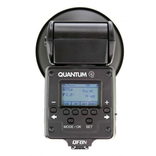 Vista trasera Q-flash trio Nikon con i-TTL