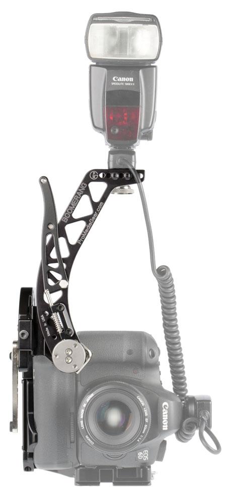 Brazo para flash compacto Boomerang BBGV 2 en vertical