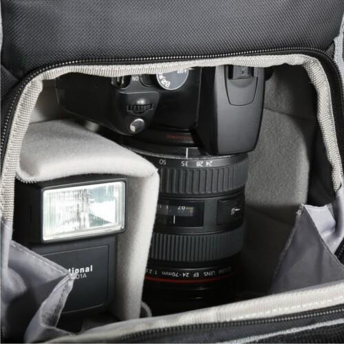 Detalle alojamiento interior para cámara y accesorios en Vanguard Sedona 41BK