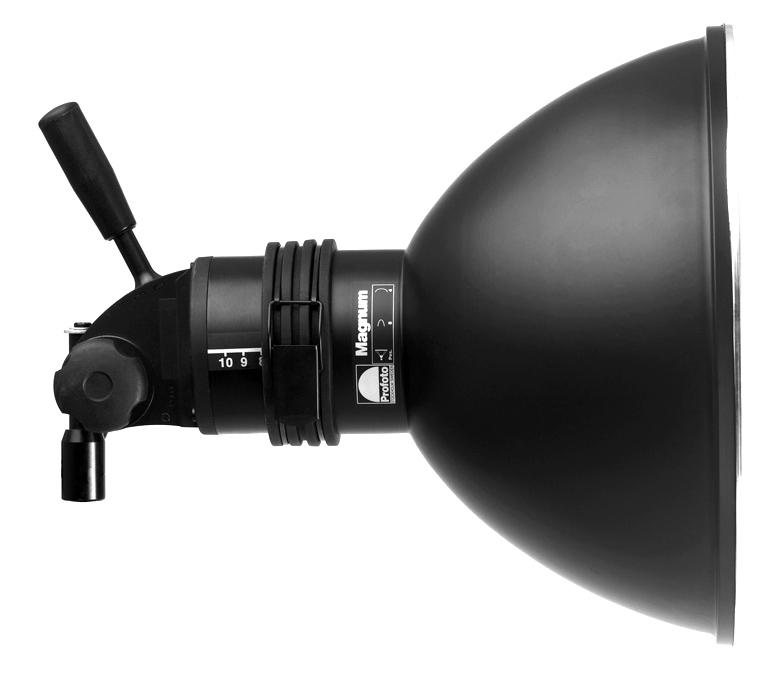 Profoto Magnum Reflector montado en antorcha