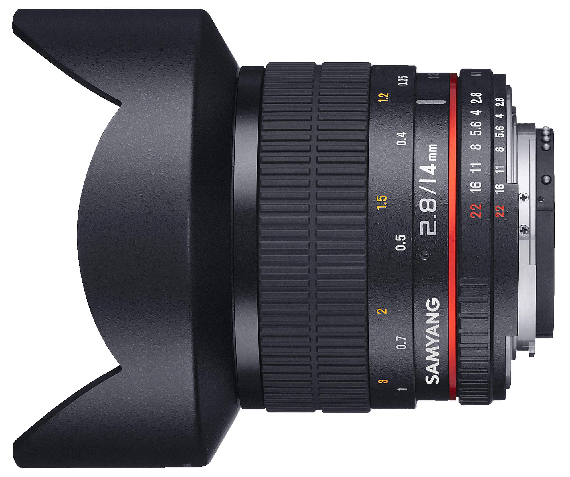 Samyang 14mm F2.8 ED AS ID UMC vista horizontal