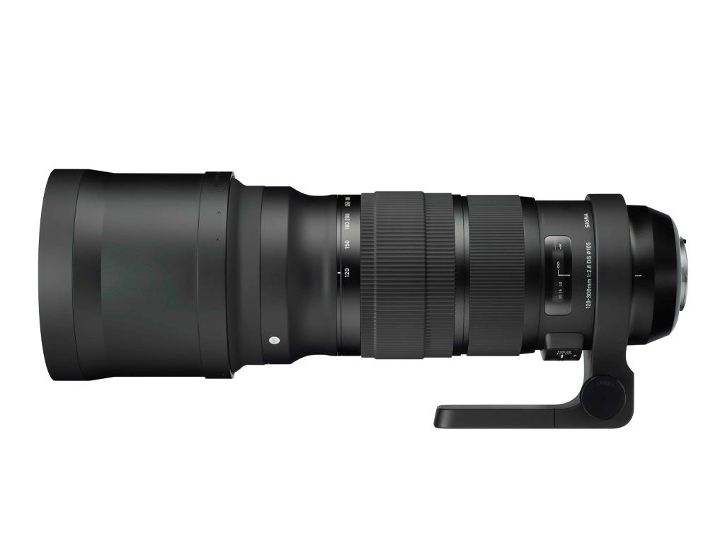 Sigma 120-300mm F2.8 DG OS HSM Sports vista lateral con parasol