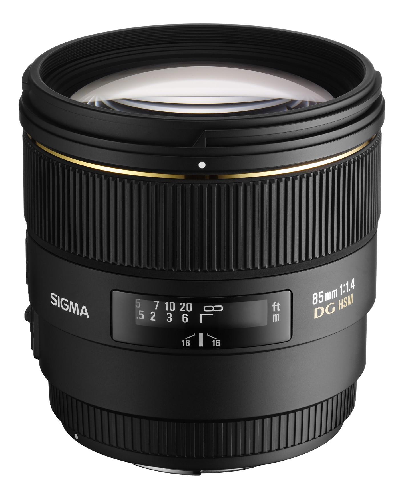 Sigma 85mm F1.4 EX DG HSM vista lente