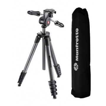 Trípode Manfrotto compact Advanced con bolsa de transporte