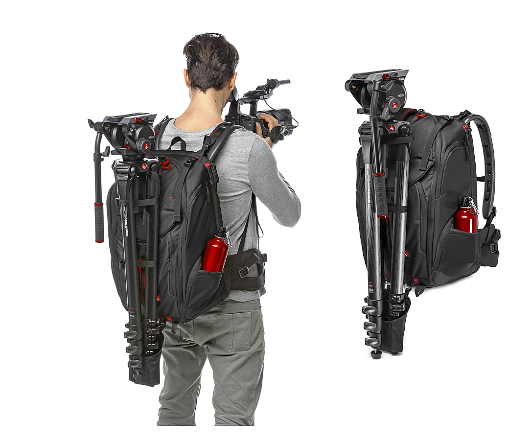 Mochila de video Manfrotto Pro Light Pro-V-410-PL a la espalda