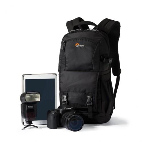 Lowepro Fastpack BP 150 AW II dotacion ejemplo