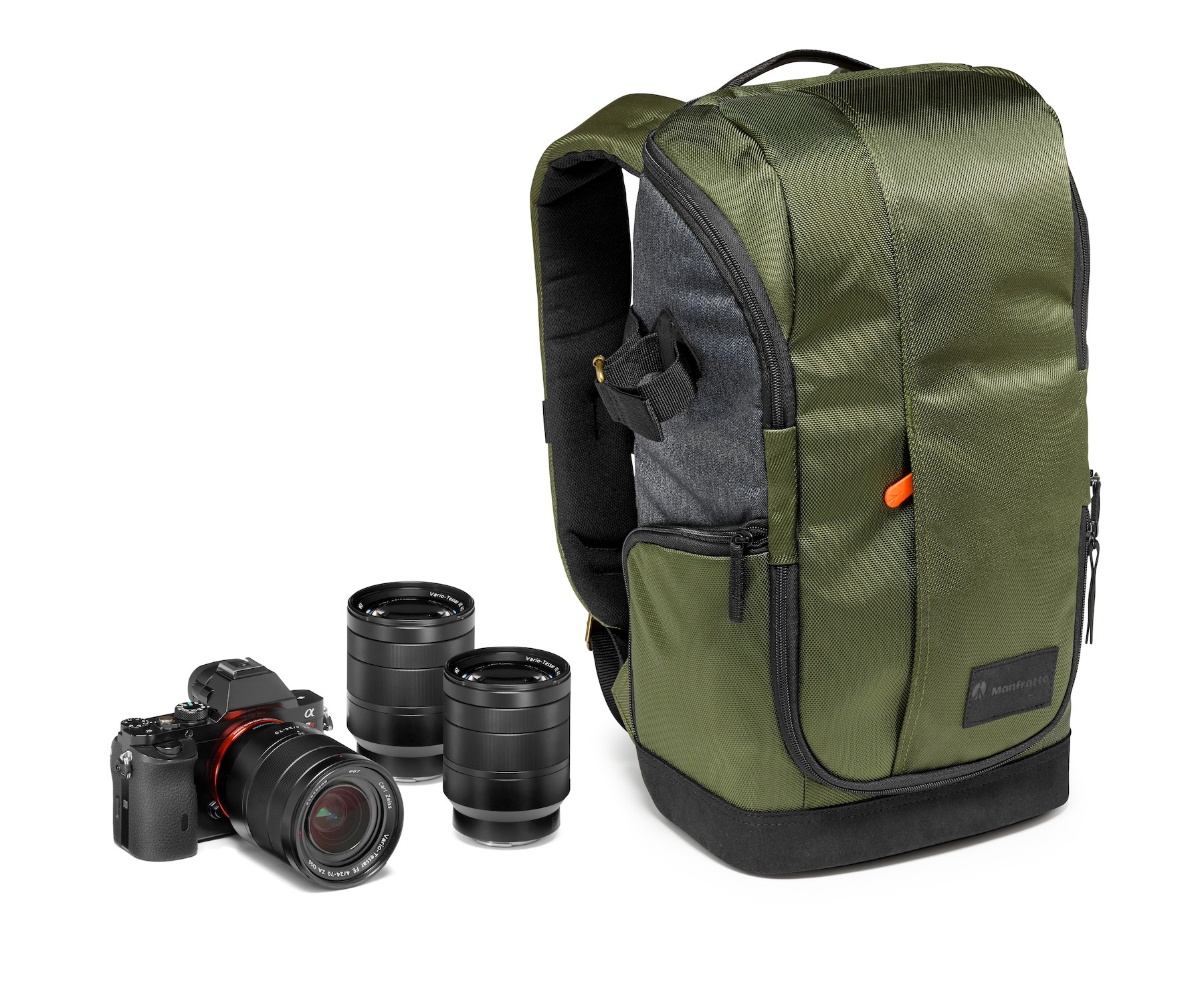Manfrotto Street camera backpack para CSC dotación ejemplo