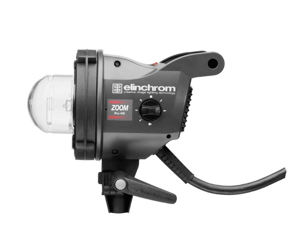 Antorcha Elinchrom Zoom Pro HD vista lateral