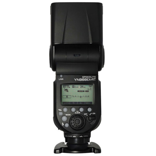 Flash Yongnuo YN 968 EX RT para Canon vista trasera