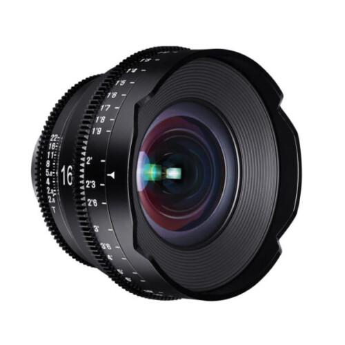 Objetivo para cine Xeen 16mm T2.6 óptica frontal