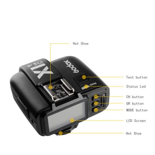 Botoneras Godox X1 T para Canon