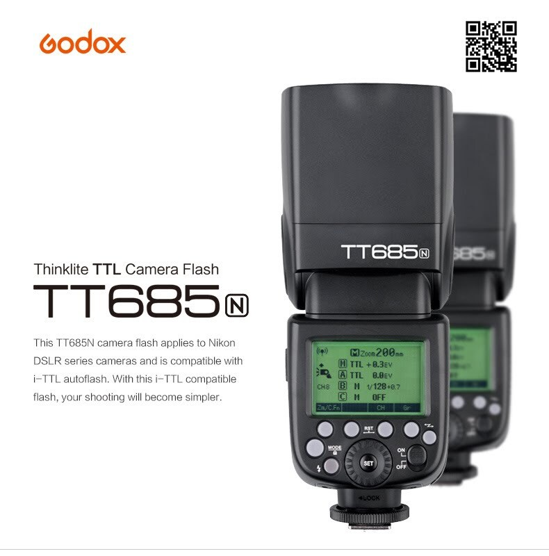Flash Godox TT658 para Nikon