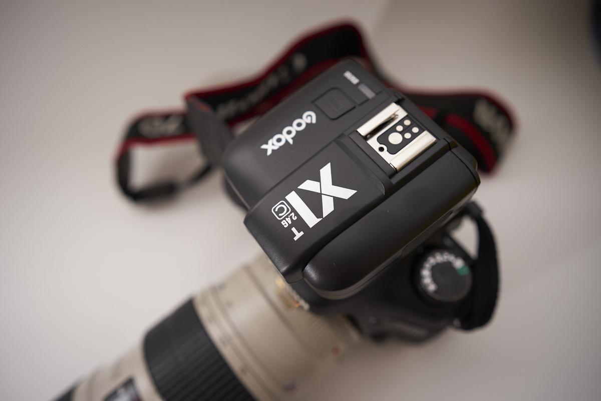 Godox X1 T montado en Canon