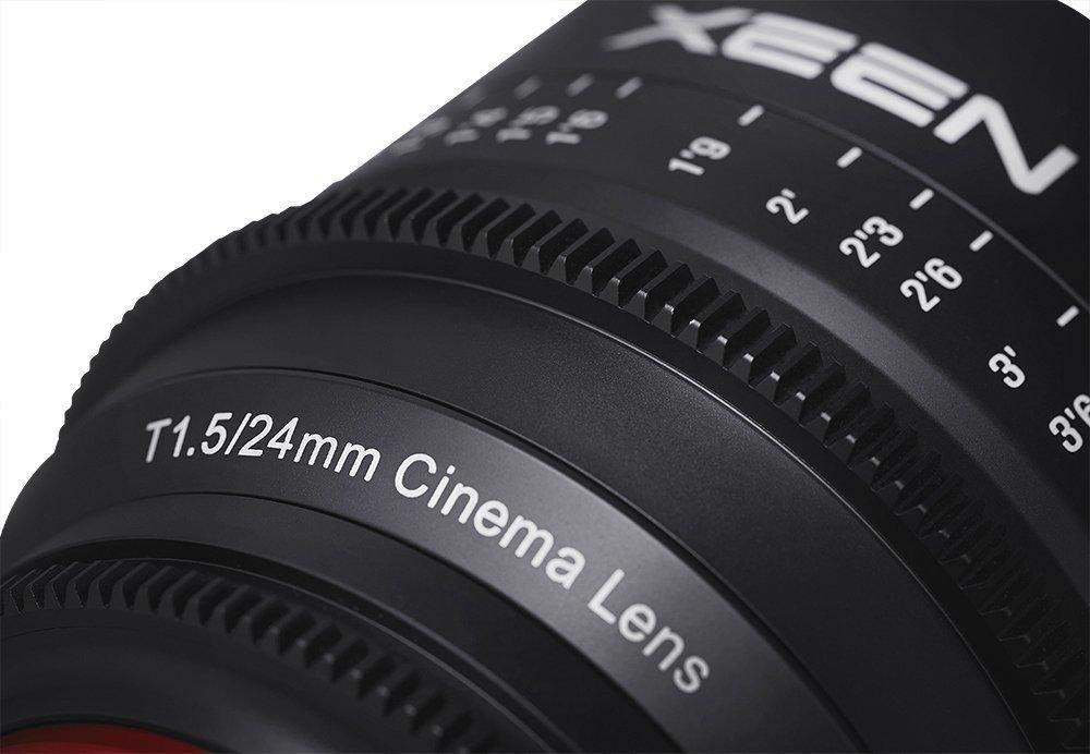 Detalle Xeen 24mm T1.5