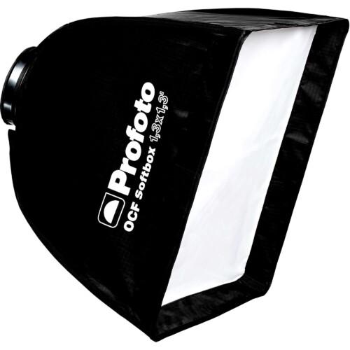 Vista lateral ventana luz cuadrada Profoto OCF Softbox 40x40 centímetros