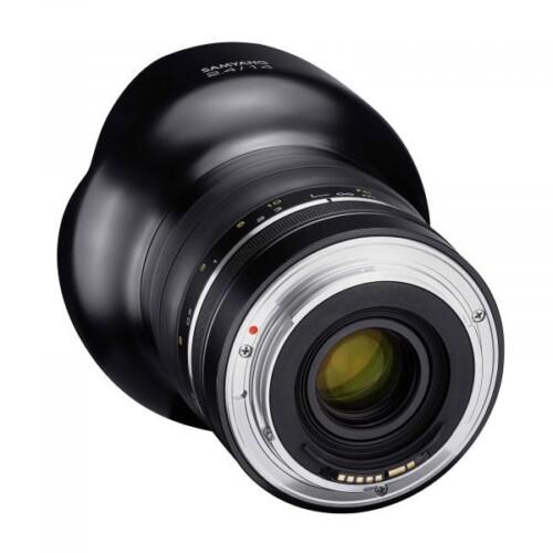 Vista trasera Samyang XP 14mm F2.4 para Nikon