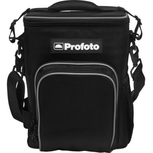 Vista frontal de la mochila
