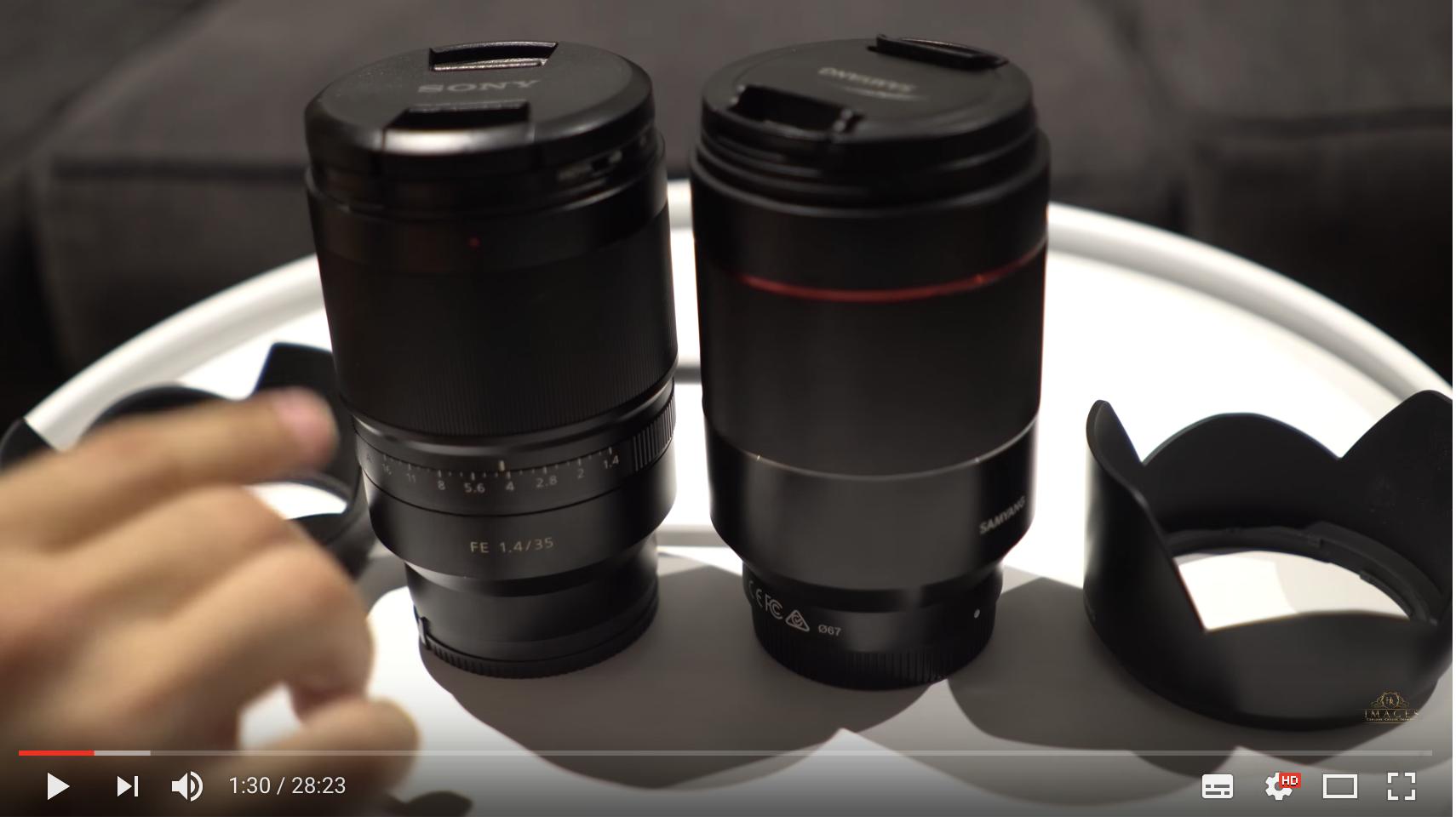 Comparativa Samyang AF 35mm F1.4 vs Zeiss 35mm F1.4 AF
