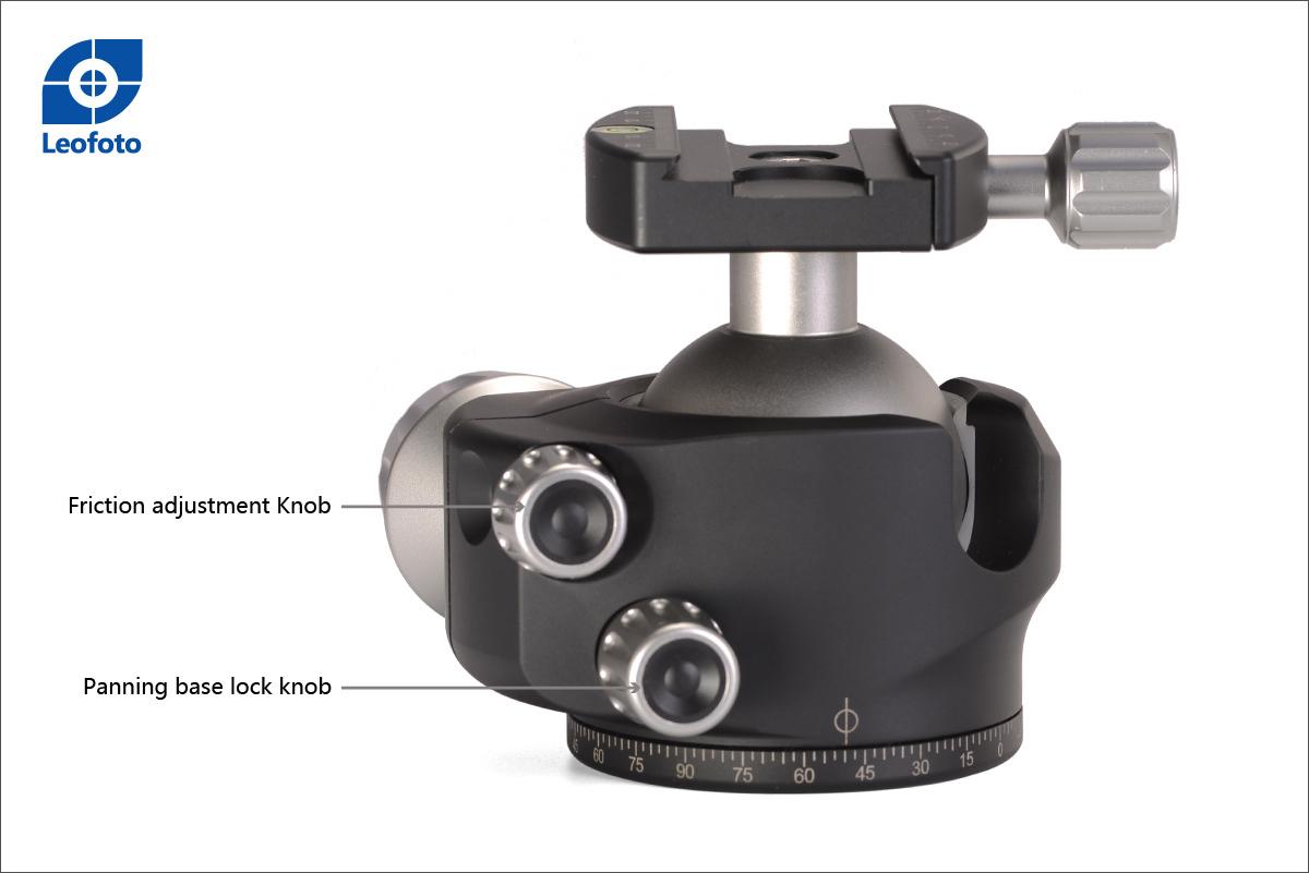 Control de fricción y control de paneo Leofoto LH-55