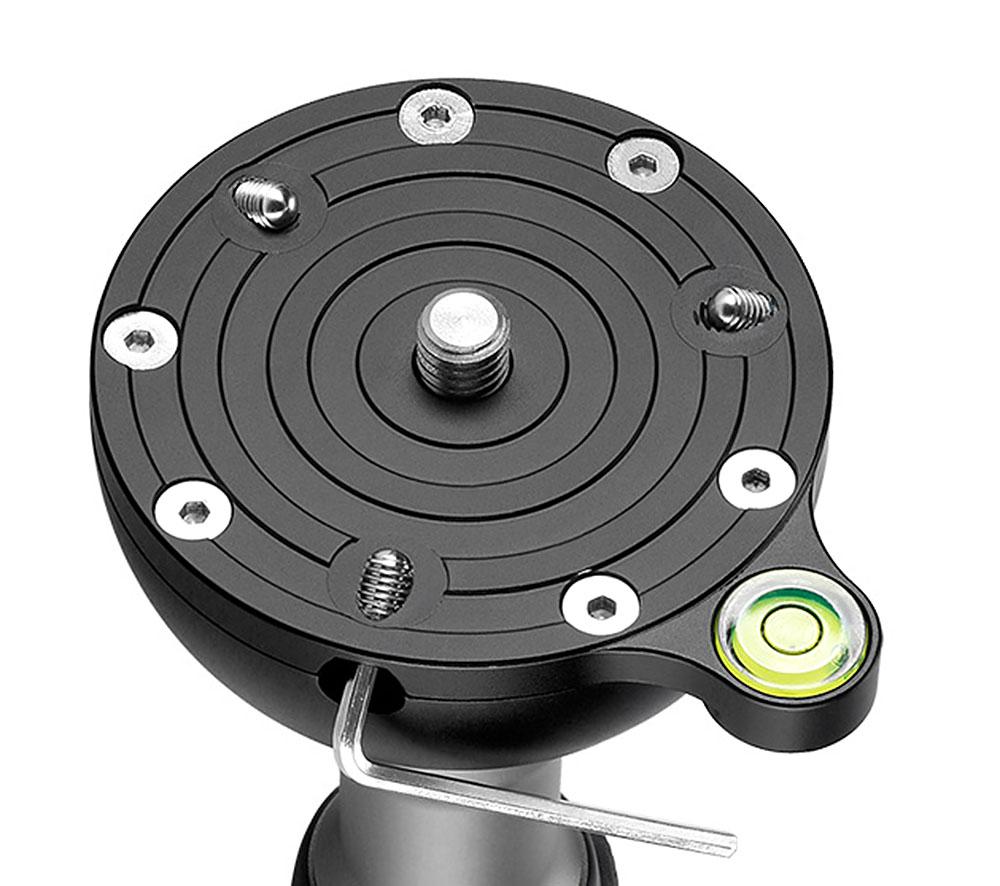 Leofoto YB-75SP semiesfera para rotulas de manivela corta