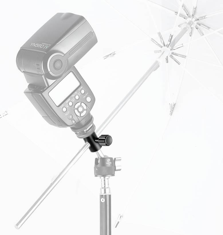 Adaptador para flash y rótula Leofoto CF-10