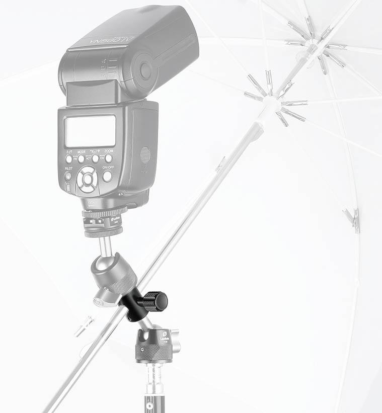 Adaptador Leofoto CF-10 para paraguas y flash