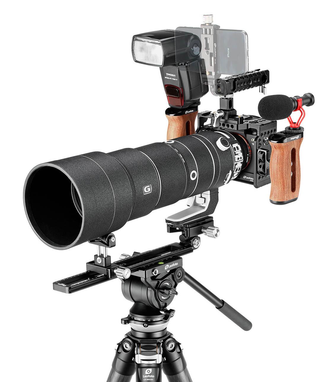 Camera Cage Leofoto EOS-R para accesorios de video